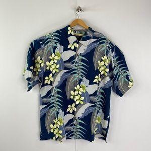 Tommy Bahama Textured Silk Hawaiian Shirt